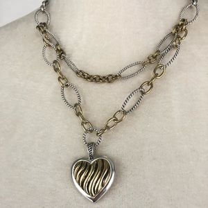 Jewelry - Gold & Silver Heart Necklace
